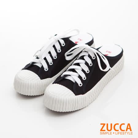 ZUCCA 皮革餅乾拖鞋
