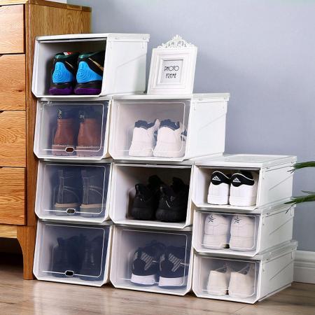 Mr.box 透明掀蓋可加疊鞋盒