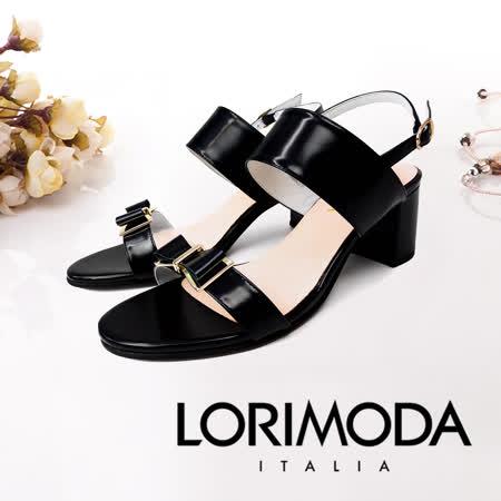 LORIMODA 扣帶中跟涼鞋