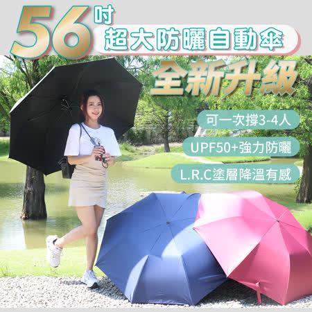 全新升級 56吋超大防曬自動傘