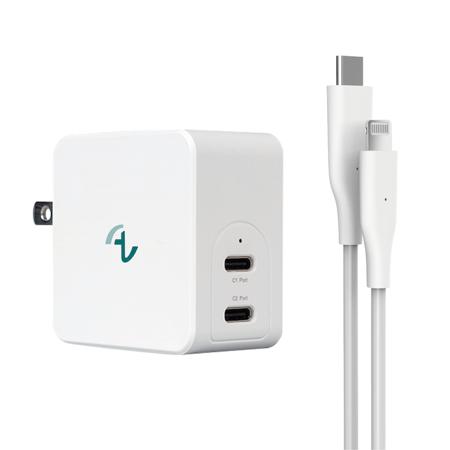 Allite 氮化鎵雙口 USB-C快充同捆包