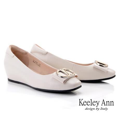 Keeley Ann 氣質知性方頭內增高包鞋