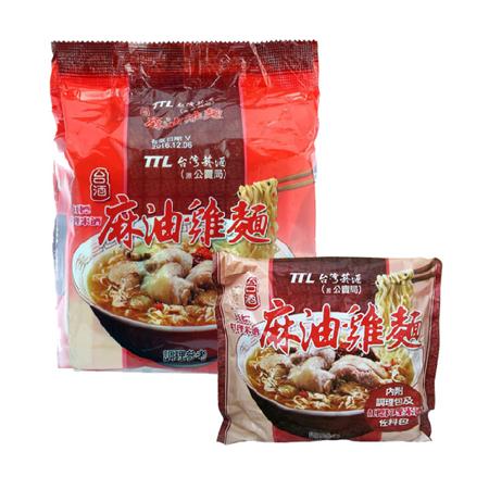 【台酒】 麻油雞麵(袋)*3入