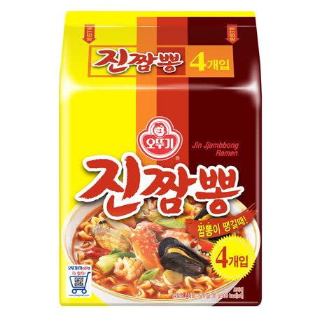 【OTTOGI】金螃蟹 海鮮拉麵130G*4入