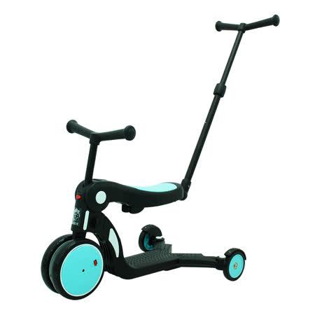 【BabyBabe】三合一平衡三輪車/滑步車/滑板車- 藍色 ( 附推把 )