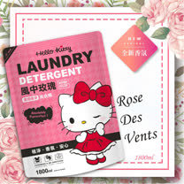 HELLO KITTY<br/>風中玫瑰洗衣精8包