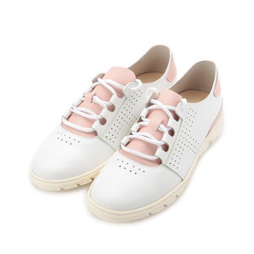 TANGO 真皮小洞休閒鞋 白粉 3034 女鞋 鞋全家福