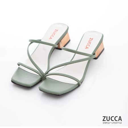 ZUCCA 日系交叉環繩低跟鞋