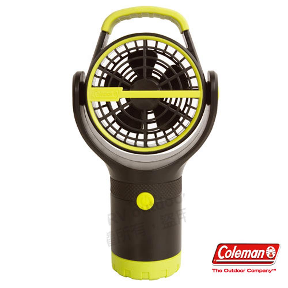 【美國 Coleman】BATTERYLOCK杯架風扇.小電扇.移動便攜式風扇/ CM-27313 萊姆綠 C