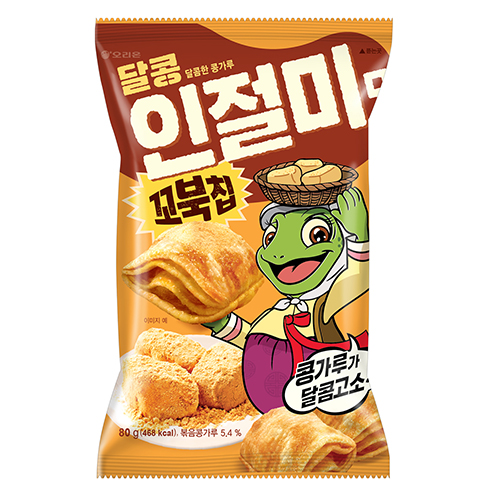 好麗友 烏龜玉米脆片-韓國烤麻糬80G