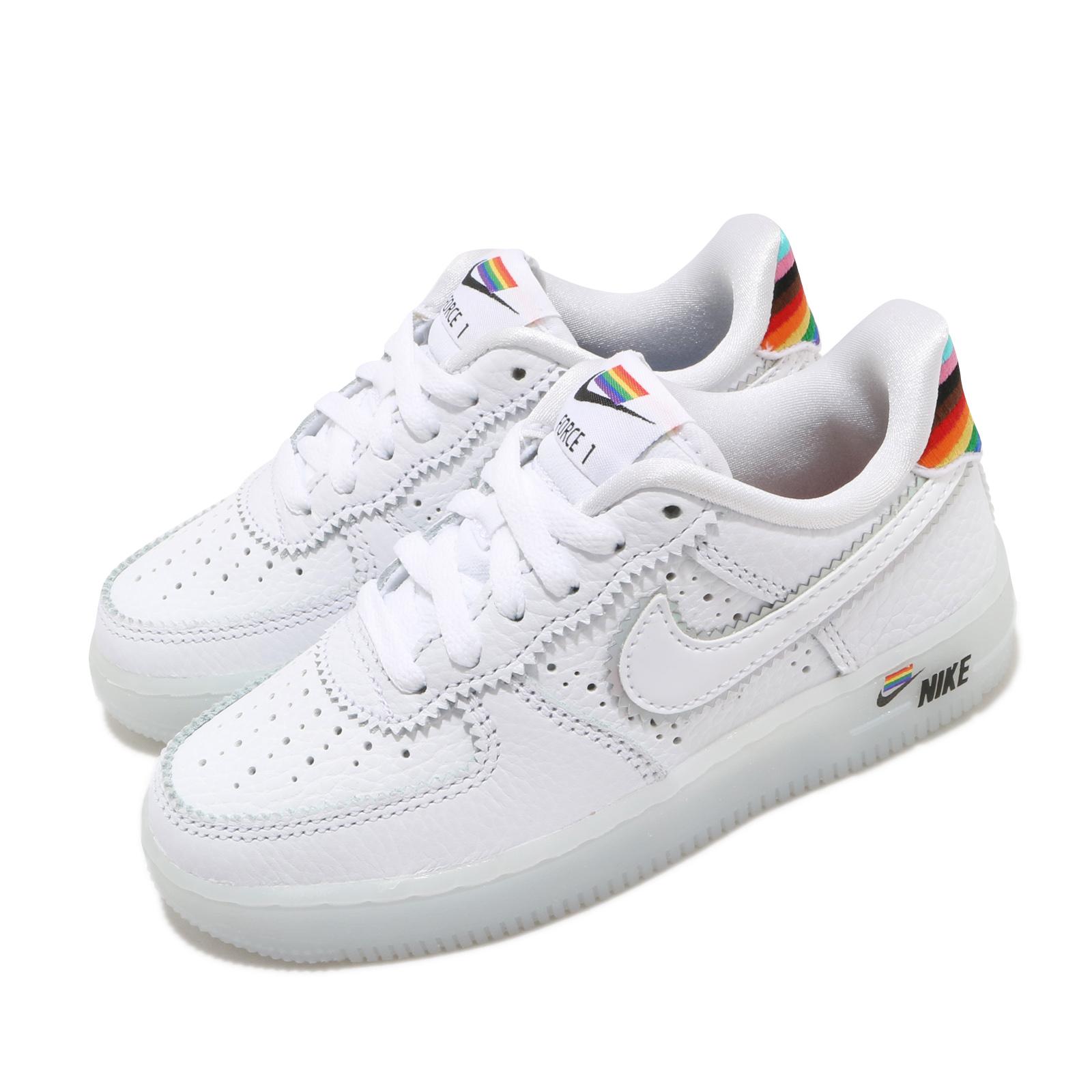 Nike 休閒鞋 Air Force 1 BT PS 運動 童鞋 興別平權 皮革 質感 AF1 中童 穿搭 白 彩 CW7439100 CW7439-100