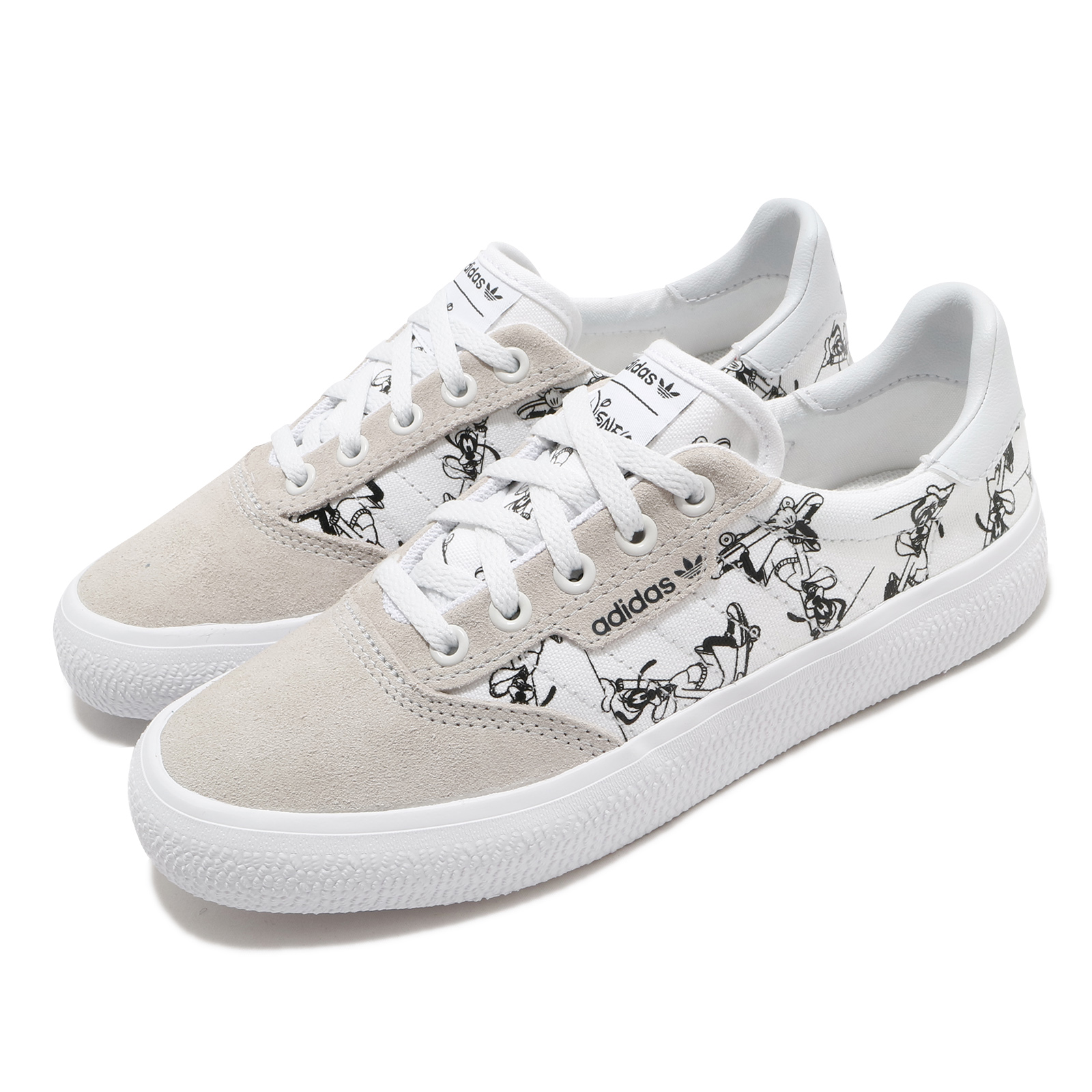 adidas 休閒鞋 3MC X Disney Sport 男女鞋 愛迪達 三葉草 迪士尼 高飛 聯名 情侶鞋 白黑 FW6240 FW6240