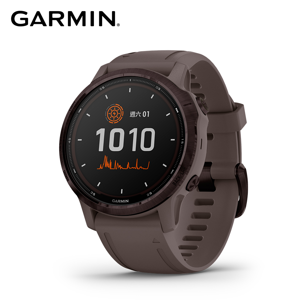 GARMIN Fenix 6S Pro 進階太陽能複合式運動 GPS 腕錶