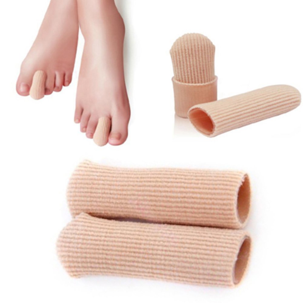 JHS杰恆社abe072封閉纖維凝膠趾套腳趾手指保護套雞眼套防磨女高跟鞋擠腳套