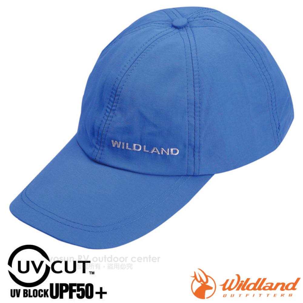 【荒野 WildLand】新款 中性抗UV透氣棒球帽.防晒遮陽帽.鴨舌帽.休閒帽/UPF50 UP.抗紫外線/W1013 地中海藍