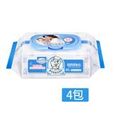 Baan貝恩 嬰兒保養柔濕巾(80抽X4包)