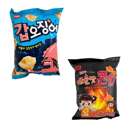 任選4包 烏賊餅乾or激辣脆片