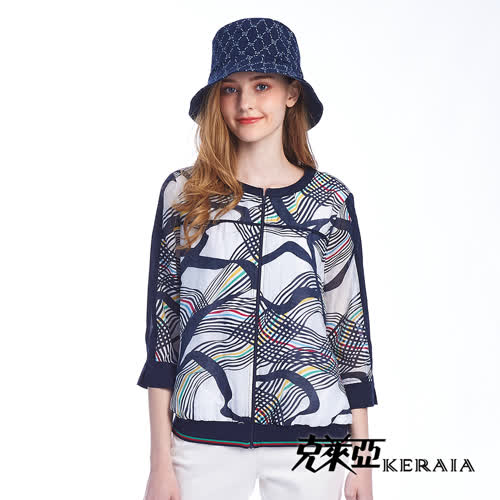 【KERAIA 克萊亞】虛擬五形色線短外套