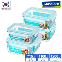 Glasslock<br/>強化玻璃保鮮盒4件組