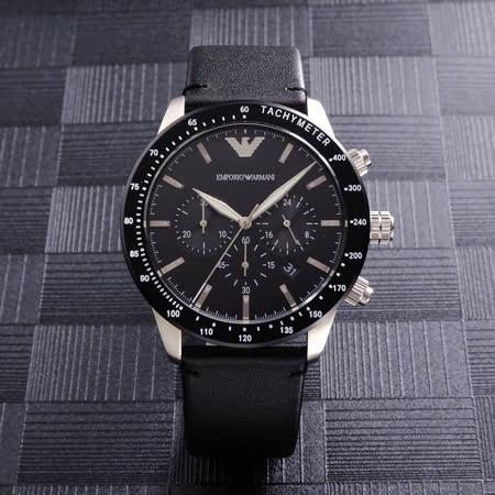 ARMANI  優質風範三眼計時腕錶