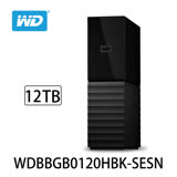 WD My Book 12TB USB3.0 3.5吋外接硬碟 (WDBBGB0120HBK-SESN)