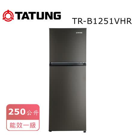 TATUNG 大同 250L 雙門冰箱TR-B1251VHR