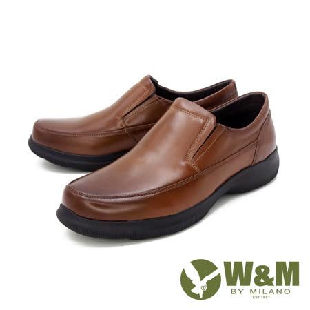 W&M 男 圓頭素面莫卡辛樂福鞋