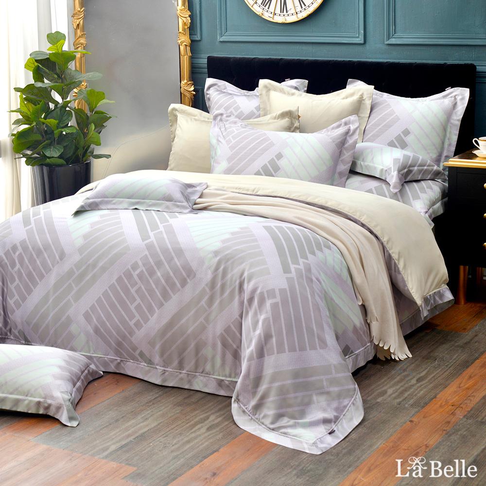 義大利La Belle《絕色光影》加大天絲防蹣抗菌吸濕排汗兩用被床包組