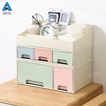 馬卡龍 化妝品桌上收納盒