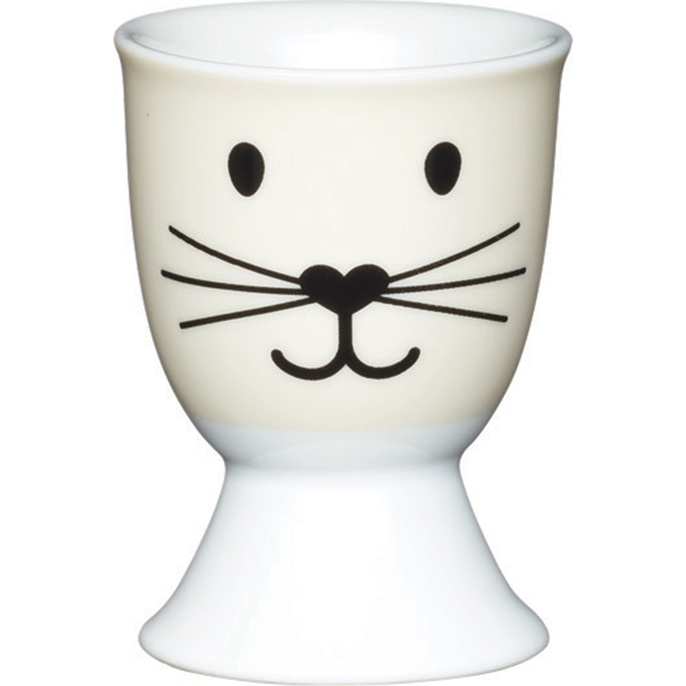 《KitchenCraft》瓷製蛋杯(小貓臉)