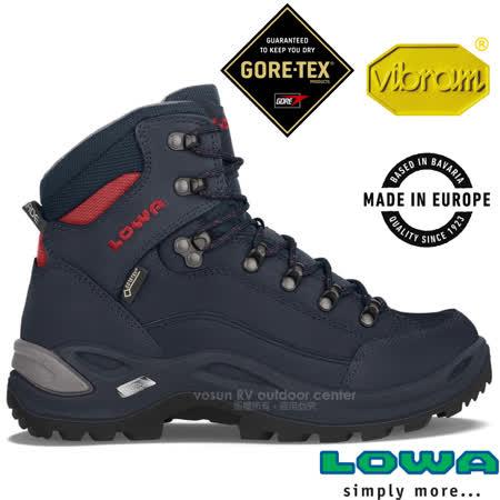 德國 LOWA 女款 歐洲製造 GTX 中筒防水透氣健行鞋