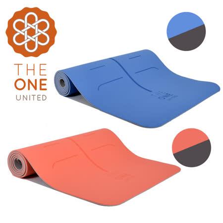 【The One】Hygge 環保 TPE正位線雙色瑜珈墊