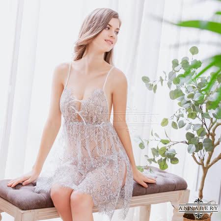 Annabery 緹花蕾絲性感睡裙