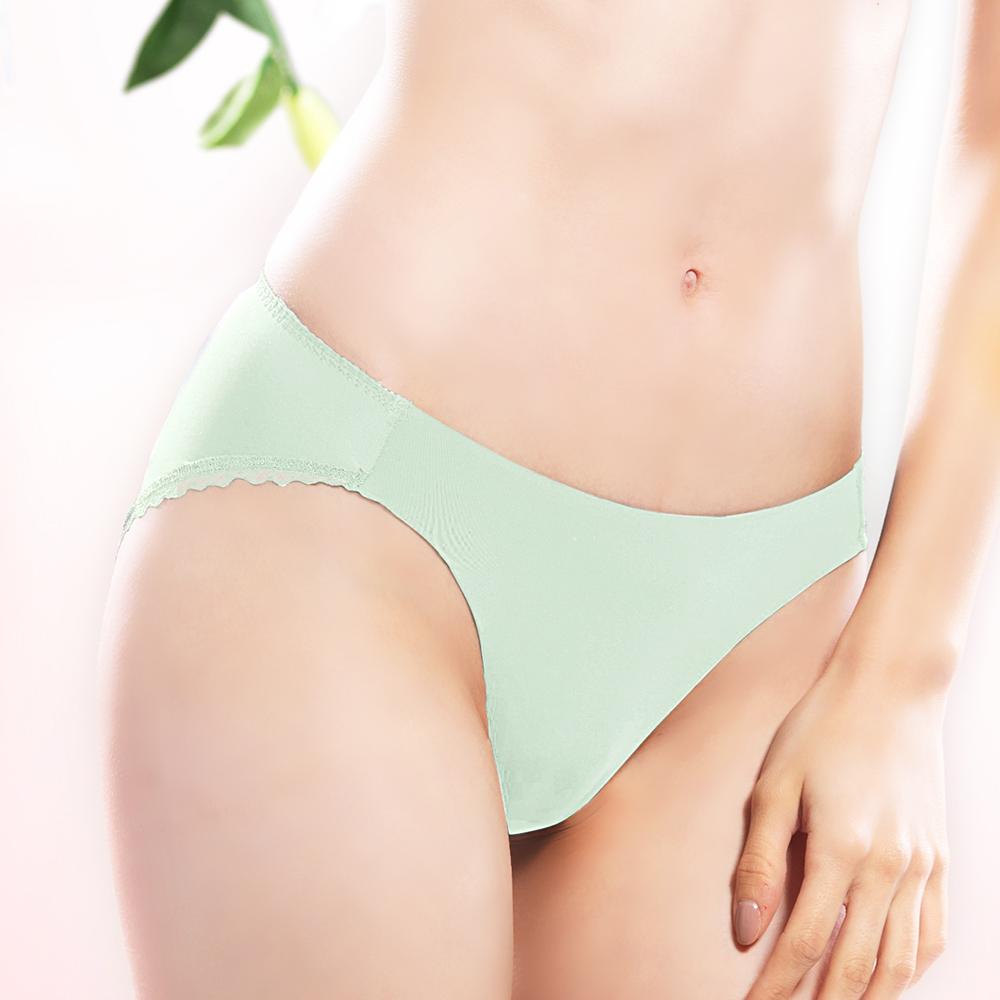 【Lofan 露蒂芬】 極光  純色蕾絲柔滑內褲 三角內褲-綠(CS1943-GRN)