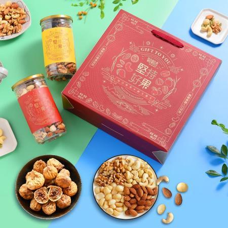 【高宏顆顆香】 頂級堅果果乾禮盒(2罐)