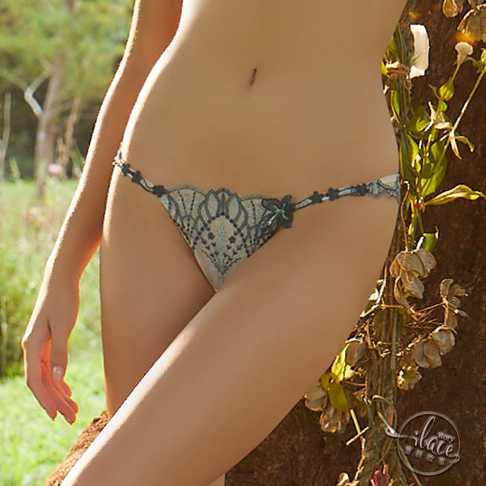 LADY 流光精靈系列 刺繡低腰丁字褲 (晶彩綠)