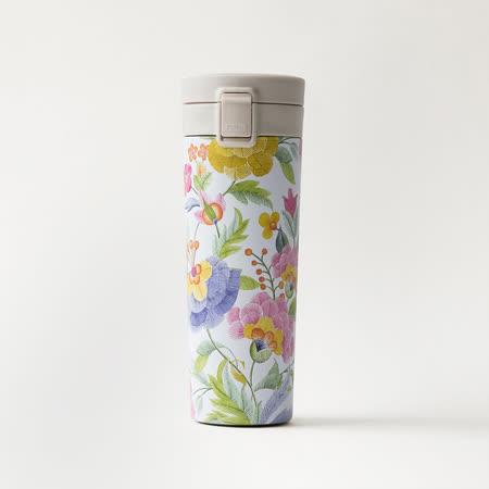 SWANZ設計款 陶瓷保溫輕扣杯390ml