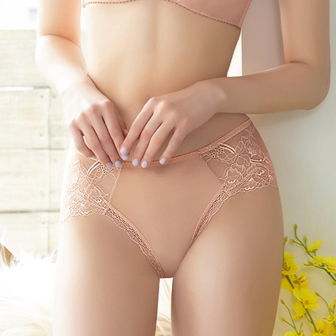 【Lofan 露蒂芬】 美形 法式蕾絲性感內褲 無痕褲 三角褲 中腰-粉(CS1963-PIK)