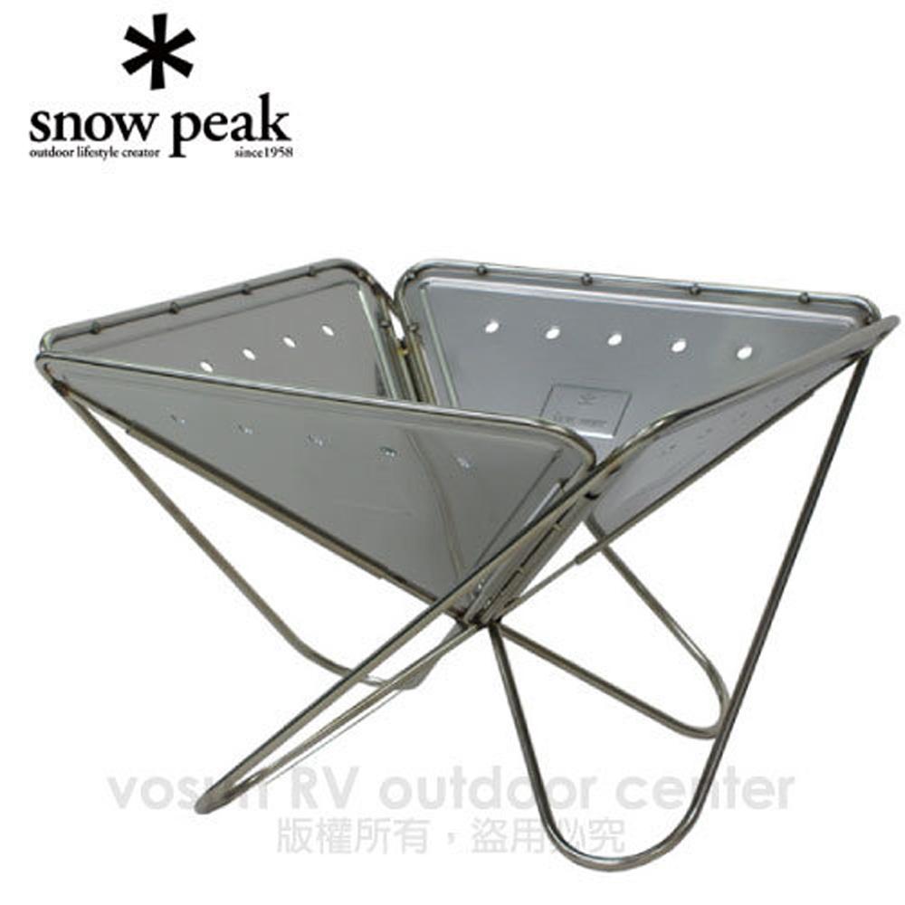 【Snow Peak】日本 公司貨 焚火台 L (Fireplace L)/附收納袋 ST-032R