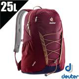 【德國 Deuter】GoGo DayPack 3D透氣休閒旅遊後背包25L(減壓肩帶+扣腰帶) 3820016 紅