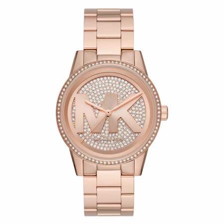 Michael Kors 華麗風滿鑽大LOGO潮流腕錶