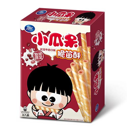小瓜呆脆笛酥-紅豆牛奶口味210g