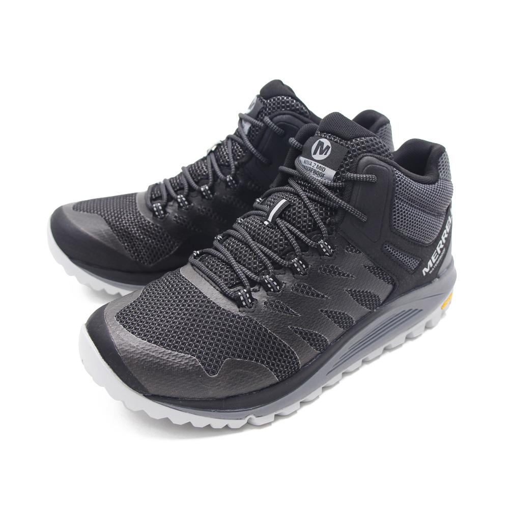 MERRELL (男)NOVA 2 MID WATERPROOF高筒郊山健行鞋 -黑(另有橄欖綠)