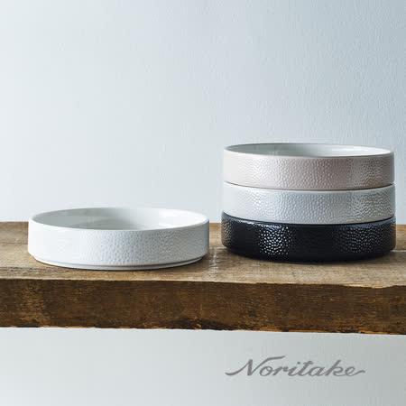 日本Noritake彩石系列 深圓盤19cm(石耀黑)