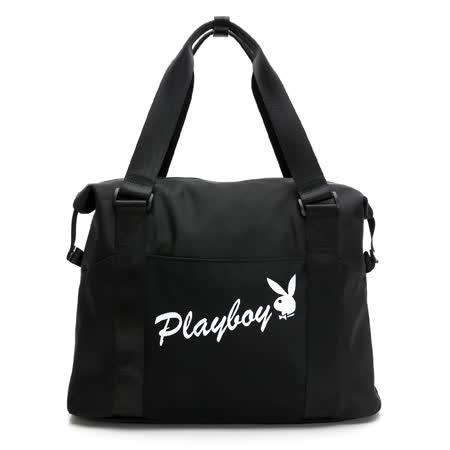 PLAYBOY 旅行包- 黑色