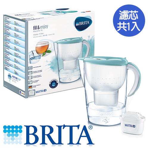 德國BRITA 馬利拉濾水壺-海島藍(1壺1芯)