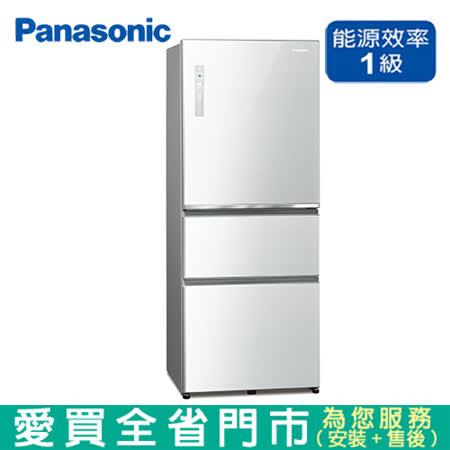 國際 500L三門變頻玻璃冰箱NR-C501XGS-W