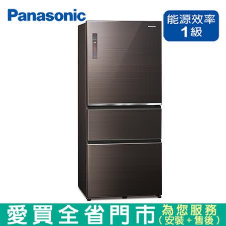 國際 610L三門變頻玻璃冰箱NR-C611XGS-T