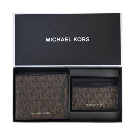 MICHAEL KORS 滿版PVC短夾禮盒組