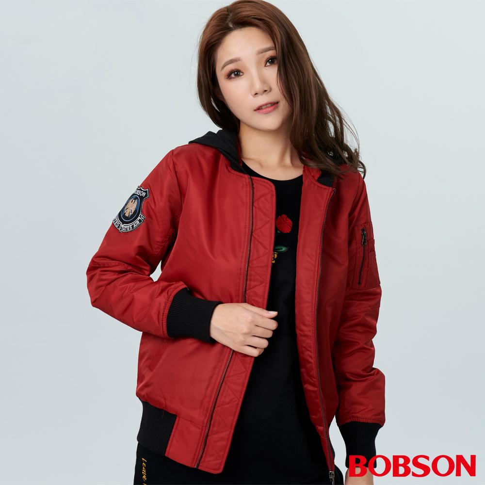 BOBSON 女款鋪棉飛行外套(38101-16)